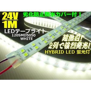 24V/船舶・漁船用/カバー付LEDテープライト蛍光灯・航海灯/1M