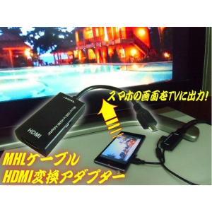 スマホ画面をテレビに映す!MHL⇒HDMI変換アダプターケーブル