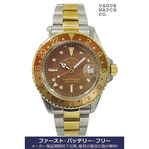 ヴァーグ・ウォッチ・コー 時計 ブラウンGMT BRWN GMT BG-L-001-SB クオーツ腕時計 a-spiral