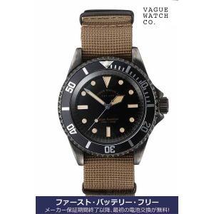 ヴァーグ・ウォッチ・コー 時計 ブラックサブ BLK SUB  BS-L-001 クオーツ腕時計 a-spiral