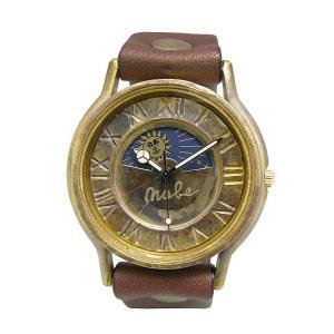 手作り時計 渡辺工房 JUM31-S&M-BR クオーツ腕時計|a-spiral