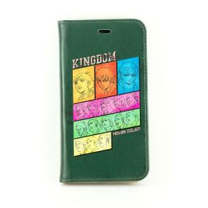 キングダム 手帳型iPhone6/6sカバー 飛信隊(グリーン)|a-works-shop