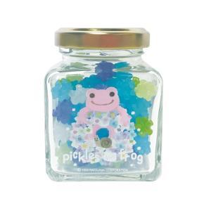 かえるのピクルス 瓶入り金平糖 ピンク(あじさい)|a-works-shop