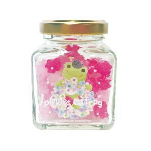 かえるのピクルス 瓶入り金平糖 みどり(さくら草)|a-works-shop