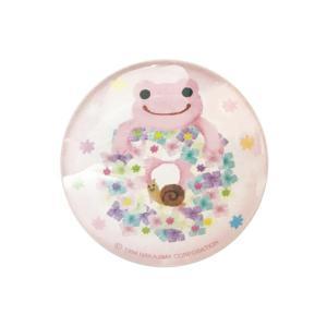 かえるのピクルス クリスタルマグネット ピンク|a-works-shop