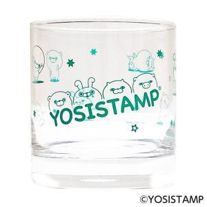 ヨッシースタンプ グラスタンブラー 225ml グリーン|a-works-shop