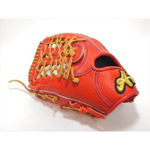 野球 ブランドA BrandA 硬式グラブ 外野手用 808AJ801 左投用 レッドオレンジ a27baseball