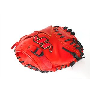野球 少年軟式キャッチャーミット ハタケヤマ Hatakeyama TH-JC8RS 右投用 レッド|a27baseball