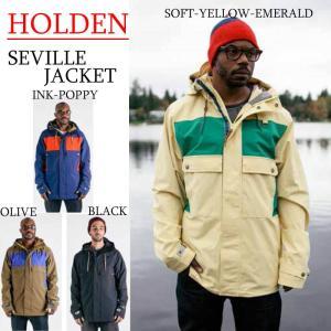 15-16 HOLDEN ウェア ホールデン スノーボードウェアSEVILLE JACKET セビルジャケット メンズ|a2b-web