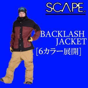 SCAPE 15-16 15/16 エスケープ スノーボードウェア BACKLASH JACKET ジャケット 型落ち セール|a2b-web