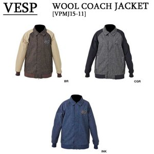 15-16 VESP ウェア ベスプスノーボードウェア WOOL COACH JACKET VPMJ15-11|a2b-web