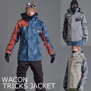 WACON ウェア ワコン 16-17 TRICKS JACKET スノーボードウェア ジャケット 和魂 2016-2017|a2b-web