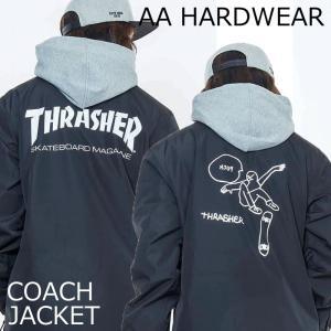 17-18 AA HARDWEAR ダブルエー ハードウェア コーチジャケット スノーボードウェア COACH JACKET THRASHER スラッシャー|a2b-web