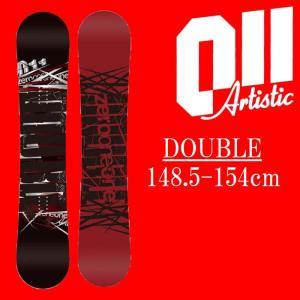 18-19 011artistic DOUBLE スノーボード ゼロワンワンアーティスティック ダブル メンズサイズ 板 グラトリ 予約商品|a2b-web