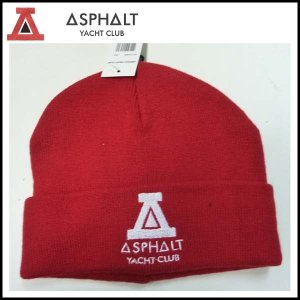 アスファルトヨットクラブ ASPHALT YACHT CLUB ビーニー  SOLID TRIANGLE BEANIE KNIT ニット帽|a2b-web