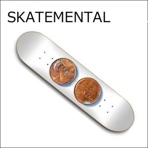 正規品 SKATEMENTAL デッキ DOUBLE PENNY スケートメンタルスケートボード  スケートボードデッキ / スケボー SKATEBOARD DECK|a2b-web
