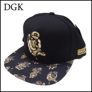 DGK スナップバックキャップ ディージーケー BLACK 黒 ブラック SNAPBACK CAP|a2b-web