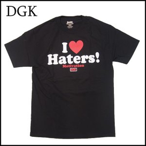 DGK Tシャツ ディージーケー 半袖 TEE シャツ HATERS TEE I LOVE HATERS スケーター Stevie|a2b-web