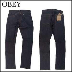 OBEY デニムパンツ オベイ NEW THREAT SELVEDGE DENIM SLIM スリム|a2b-web