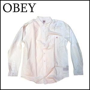 OBEY オベイ シャツ 白シャツ 長袖シャツ|a2b-web