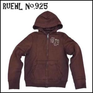 RUEHL No. 925 メンズ パーカー レッドブラウン フード  ルール ナンバー925  アメカジ|a2b-web
