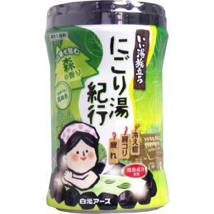 白元 いい湯旅立ち 薬用入浴剤 ボトル にごり湯紀行 森の香り 600g|aaa83900