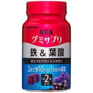 UHA グミサプリ 鉄&葉酸 ボトル 30日分 60粒 UHA味覚糖|aaa83900