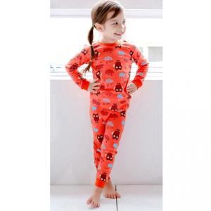 子供服 可愛い 男の子 女の子 韓国子供服 キッズパジャマ フクロウ柄 90cm/100cm/110cm|aaahouse