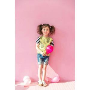 子供服 可愛い 送料無料  韓国子供服 新作 パイナップルトップス ユニセックス 90cm/100cm/110cm/120cm/130cm/140cm|aaahouse