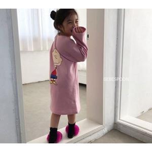 【即納商品】韓国子供服 チャーリーブラウンワンピース 90cm/100cm/110cm/120cm|aaahouse