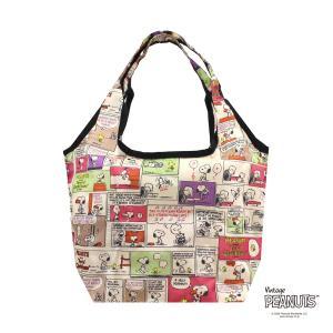 エコバッグ Sサイズ 折りたたみ レディース コンパクト おしゃれ キャラクター 買い物袋 カバン スヌーピー シフレ ECO0119-PN aaminano