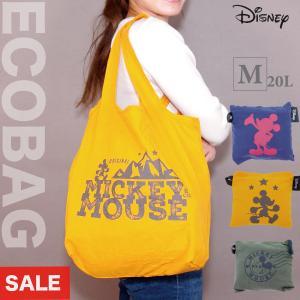折り畳みエコバッグ ディズニー ミッキーマウス Mサイズ 布製 ECO0122 シフレ aaminano