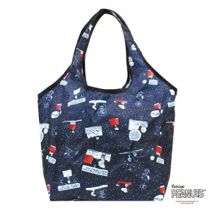 コンビニバッグ エコバッグ スヌーピー SNOOPY 折りたたみ 2way 洗濯可能 買い物袋 カバン 軽量 コンパクト シフレ ECO0417-PN|aaminano