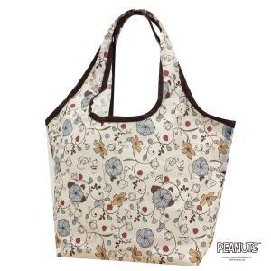 コンビニバッグ エコバッグ スヌーピー SNOOPY 折りたたみ 2way 洗濯可能 買い物袋  軽量 コンパクト シフレ ECO0417-PN aaminano