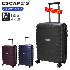 50%OFF アウトレット スーツケース Mサイズ ファスナータイプ 超軽量 大容量 ダブルキャスター 衝撃に強い ESC2119-61 aaminano