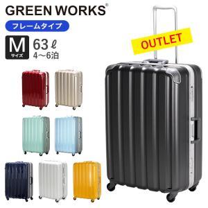 30%OFF アウトレット スーツケース 鏡面 Mサイズ 59cm 中型 フレームタイプ 約4日〜6日向き TSAロック付 1年保証付 GRE1043-59|aaminano