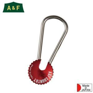 エイアンドエフ A&F カラーエイトリングキーホルダー レッド|aandfshop