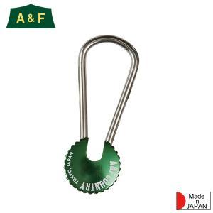 エイアンドエフ A&F カラーエイトリングキーホルダー グリーン|aandfshop