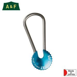 エイアンドエフ A&F カラーエイトリングキーホルダー ブルー|aandfshop