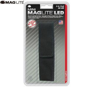 マグライト MAGLITE ミニマグライト LED 2AA (単三2本) ナイロンケース ブラック 懐中電灯 LEDライト AP2X136Y|aandfshop
