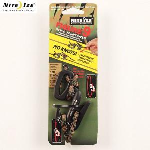 ナイトアイズ NITE IZE フィギア9ロープタイトナーL ロープ付 ブラック aandfshop