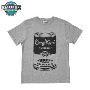 クレイジークリーク CRAZY CREEK メンズ FATCAN Tシャツ グレー|aandfshop