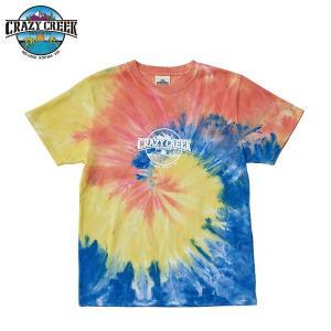 クレイジークリーク CRAZY CREEK メンズ タイダイロゴ Tシャツ タイダイ|aandfshop