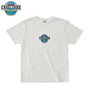 クレイジークリーク CRAZY CREEK メンズ LOGO EMB Tシャツ ホワイト|aandfshop