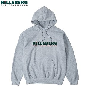 ヒルバーグ HILLEBERG ロゴパーカー グレー スウェット|aandfshop