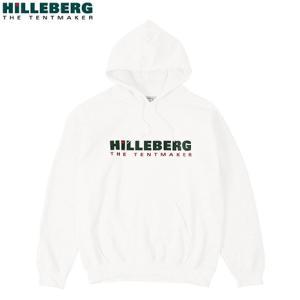 ヒルバーグ HILLEBERG ロゴパーカー ホワイト スウェット|aandfshop
