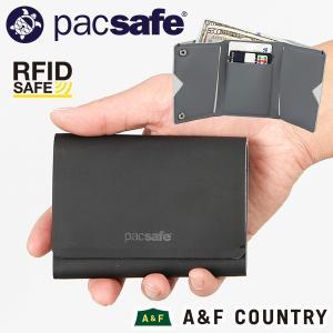パックセーフ pacsafe RFID トリフォールドウォレット ブラック|aandfshop