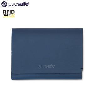 パックセーフ pacsafe RFID トリフォールドウォレット ネイビー|aandfshop