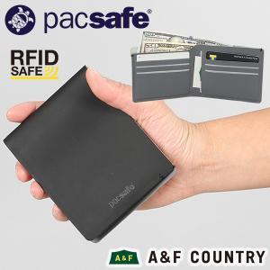 パックセーフ pacsafe RFID バイフォールドウォレット ブラック|aandfshop