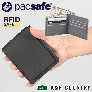 パックセーフ pacsafe RFIDセーフテック バイフォールドプラス ブラック|aandfshop